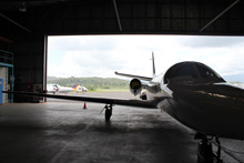 Hangar at Port Moresby airfield