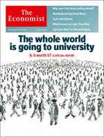 Cover of The Economist: The whole world is going to university
