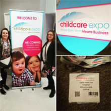 Stalls and visitor pass from Childcare Expo event